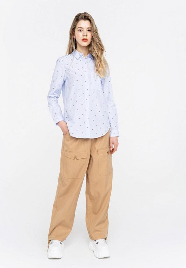 Фото 2 - Женскую блузку Befree голубого цвета