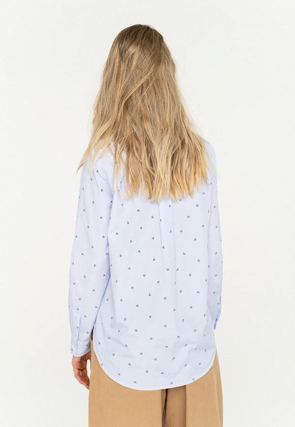 Фото 3 - Женскую блузку Befree голубого цвета