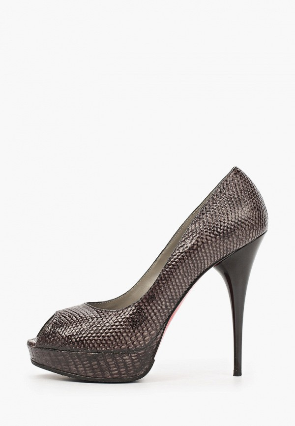 женские туфли с открытым носом enzo logana, коричневые
