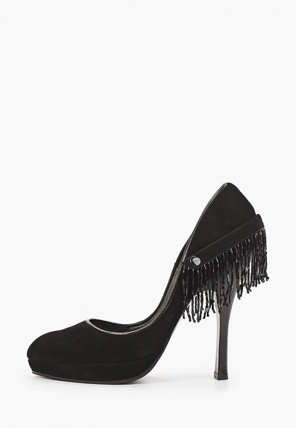 женские туфли с закрытым носом enzo logana, черные