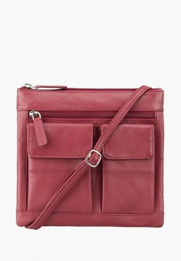 женская сумка visconti, бордовая