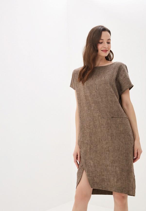 Платье Agenda цвет коричневый