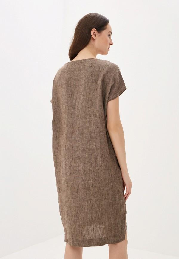 Платье Agenda цвет коричневый  Фото 3