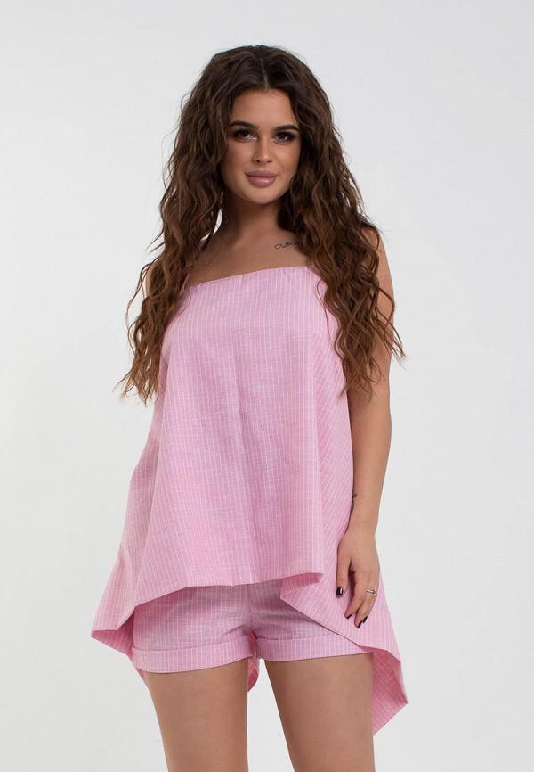 женский костюм modna anka, розовый