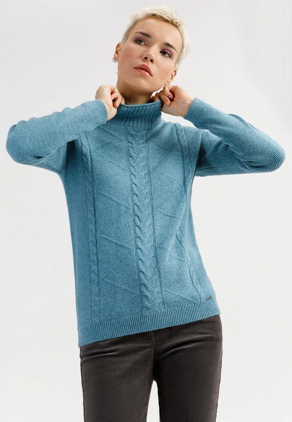 женский свитер finn flare, голубой