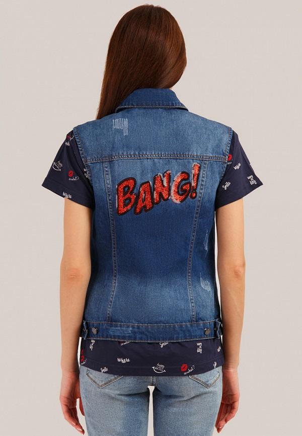 Жилет джинсовый Finn Flare цвет синий  Фото 3