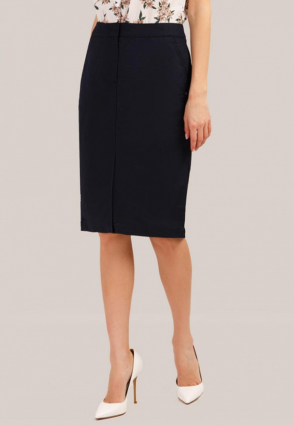 женская прямые юбка finn flare, синяя