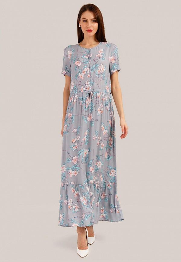 женское повседневные платье finn flare, серое