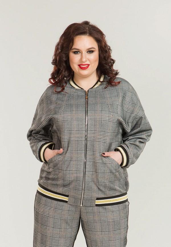 женская куртка luxury plus, серая