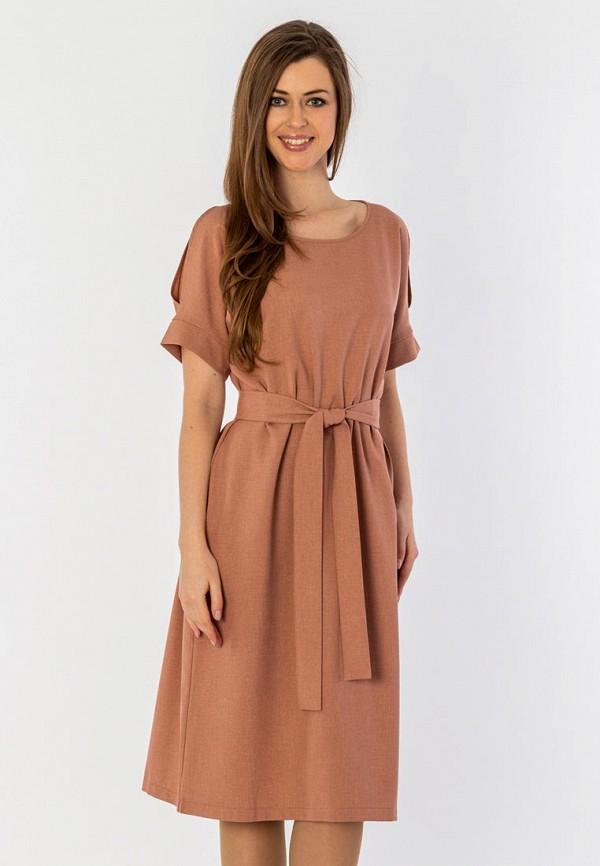 женское платье миди s&a style, бежевое