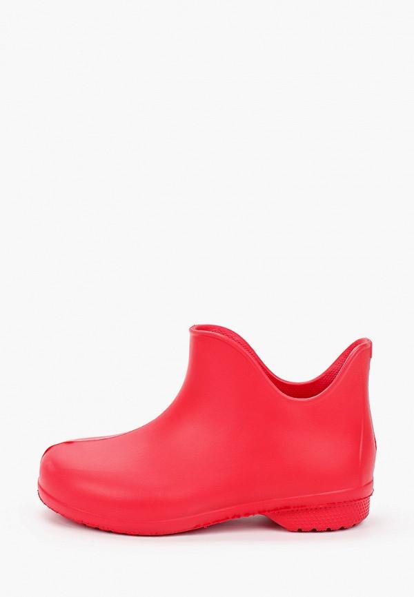 женские ботинки smile of milady, красные