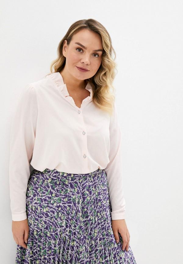 женская блузка с длинным рукавом olsi, розовая