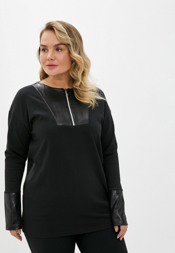 женская блузка с длинным рукавом olsi, черная