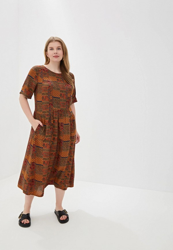 женское платье forus, коричневое