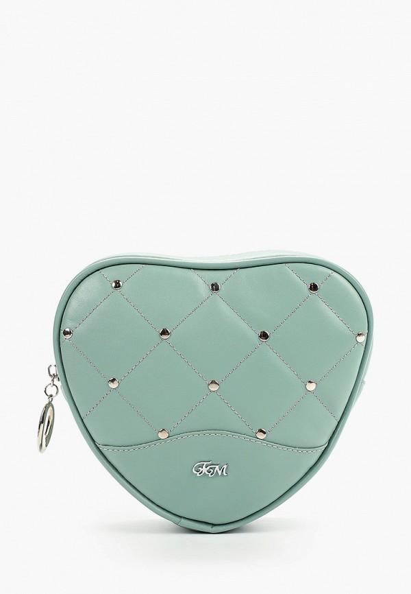 женская сумка franchesco mariscotti, бирюзовая