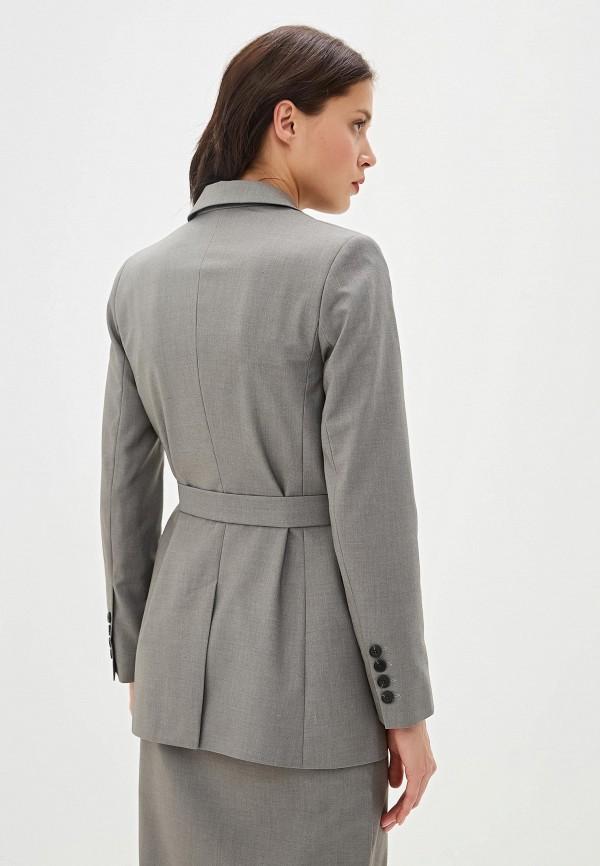 Фото 3 - Женский пиджак Aylin Stories серого цвета