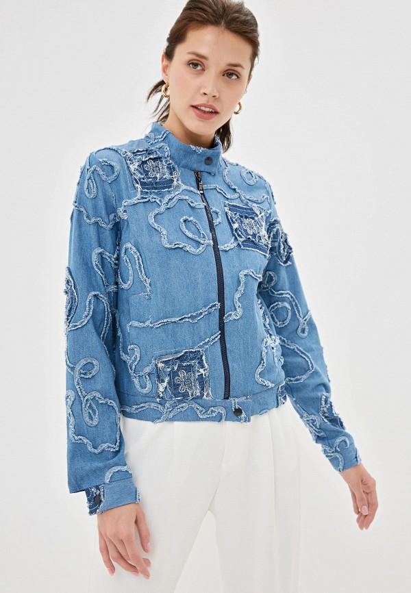 женская джинсовые куртка adzhedo, голубая