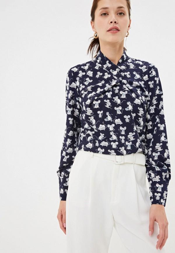 женская блузка adzhedo, синяя