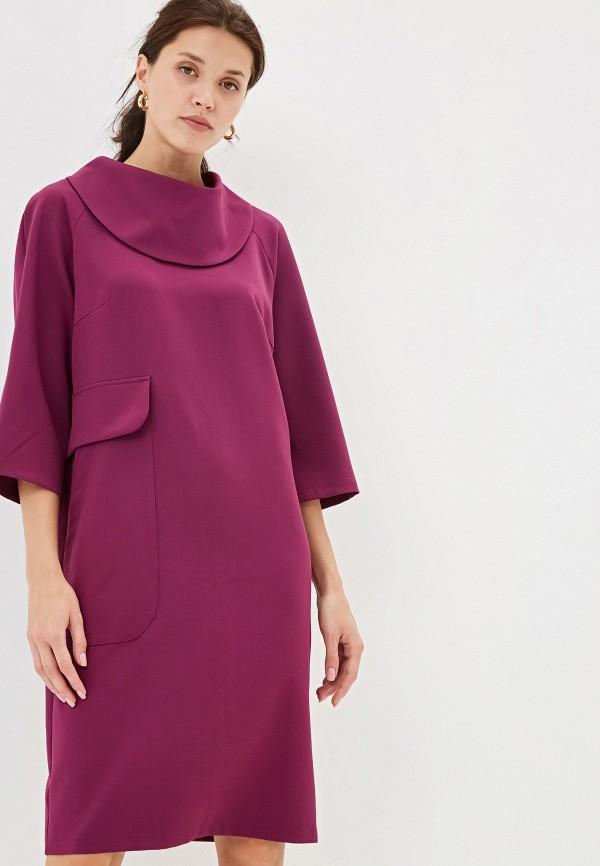 женское повседневные платье adzhedo, фиолетовое