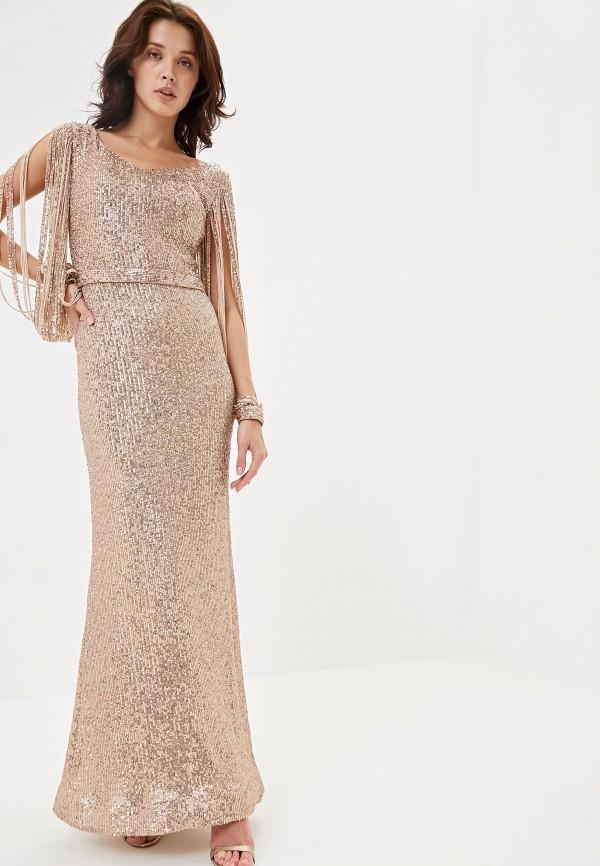 Фото - Женское вечернее платье Joymiss золотого цвета