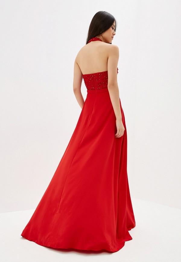 Фото 3 - Женское вечернее платье Joymiss красного цвета