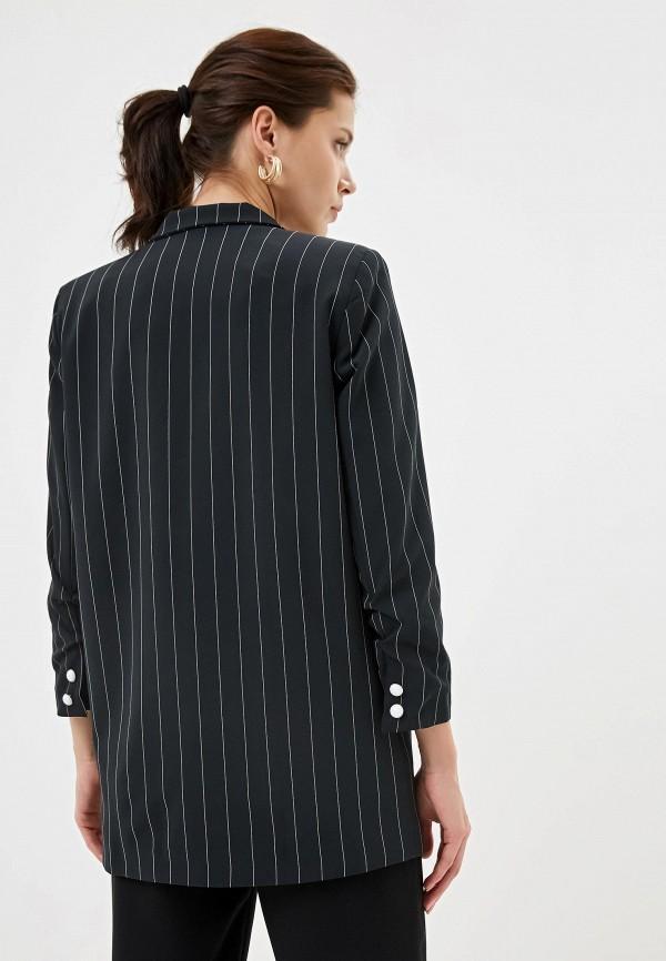 Фото 3 - Женский пиджак Joymiss черного цвета