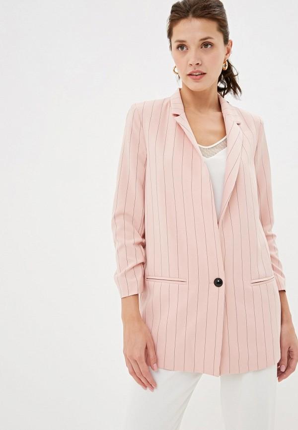 женский пиджак joymiss, розовый