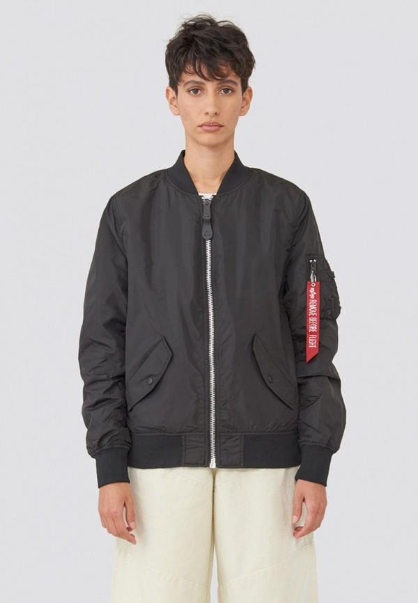 женская куртка alpha industries, черная