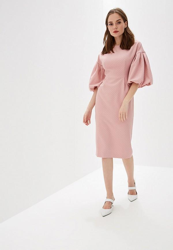 женское повседневные платье self made, розовое