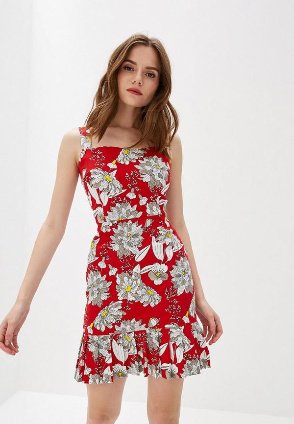 женское повседневные платье self made, красное