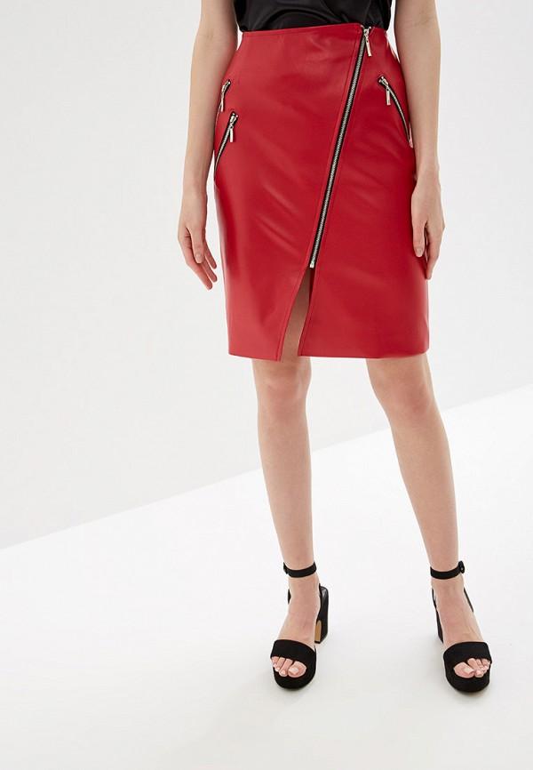 женская юбка self made, красная