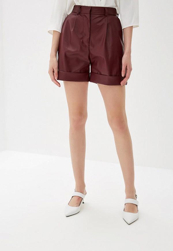 женские повседневные шорты self made, бордовые
