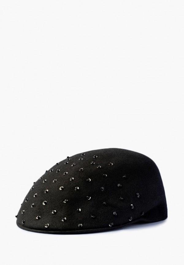 женская кепка elegant, черная