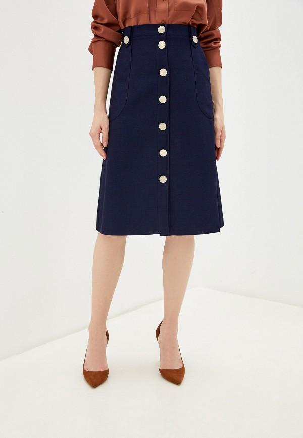 женская юбка-трапеции анисима, синяя