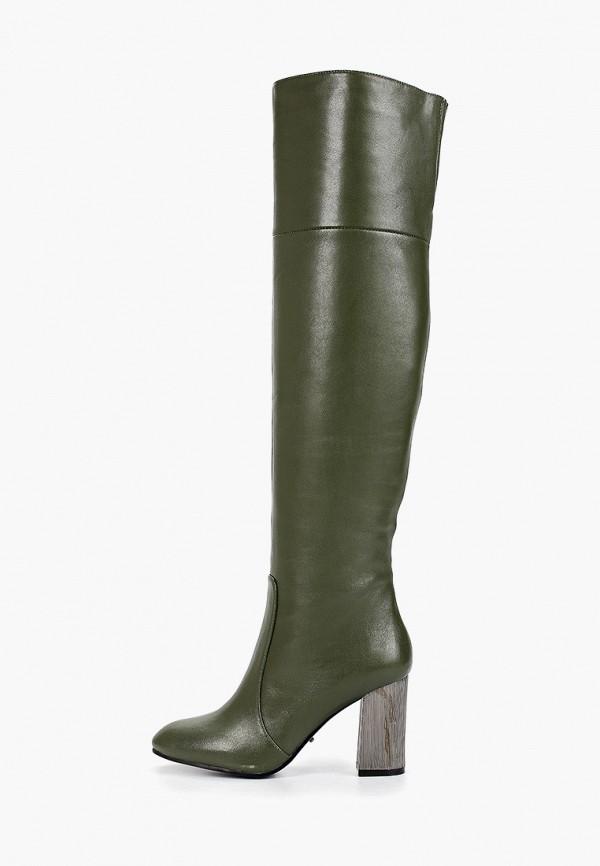 женские ботфорты graciana, зеленые