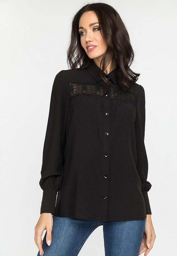 женская блузка с длинным рукавом gloss, черная