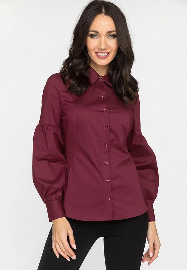 женская блузка с длинным рукавом gloss, бордовая