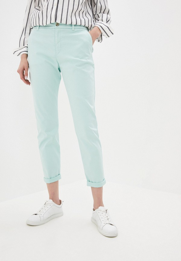 женские повседневные брюки boss, бирюзовые