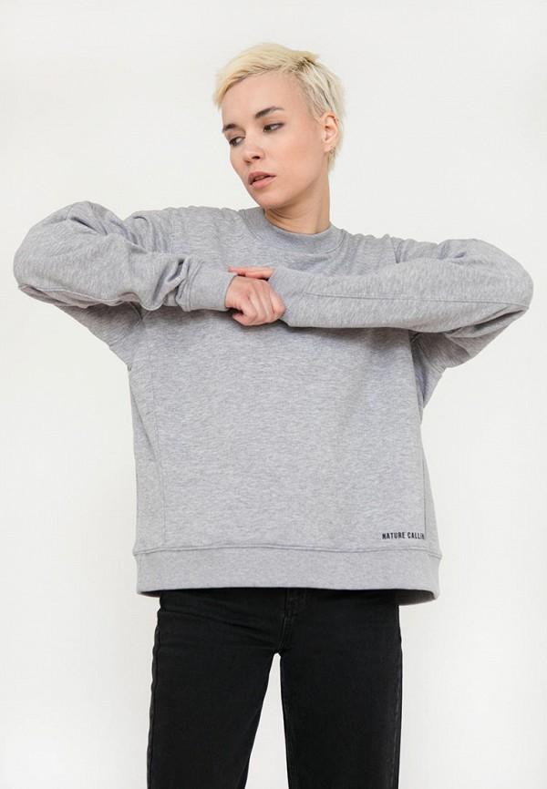 Свитшот Finn Flare серого цвета