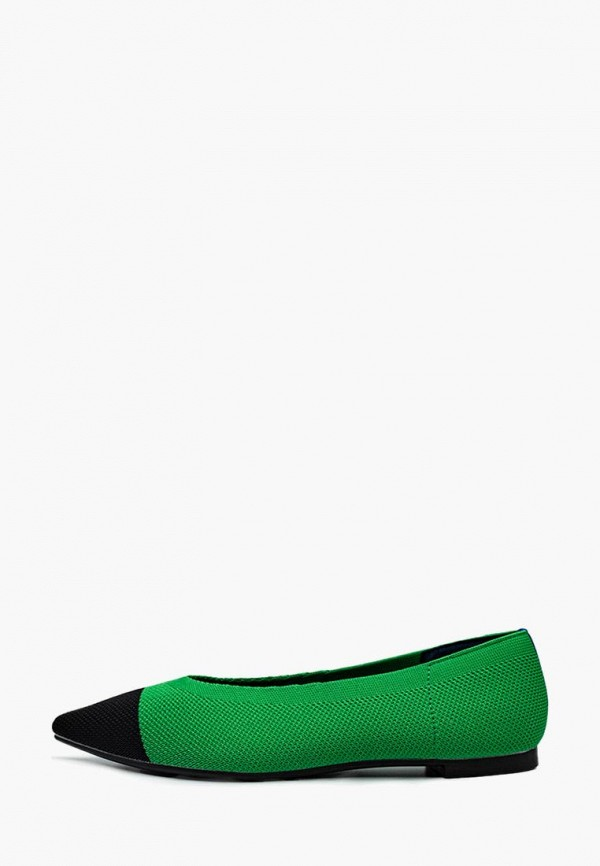 женские балетки dasti, зеленые