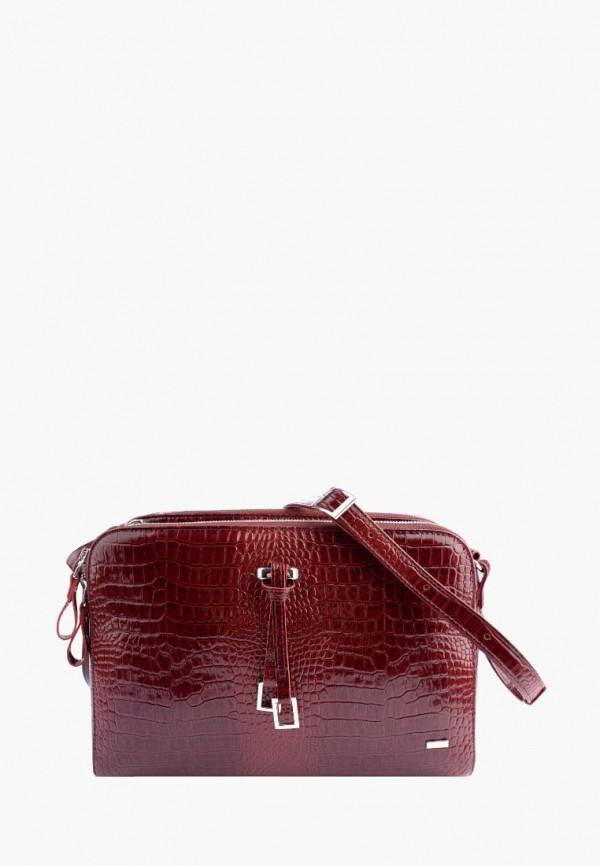 женская сумка через плечо esse, бордовая