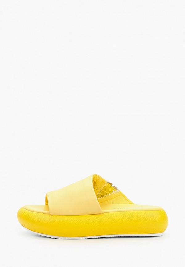 женское сабо berkonty, желтое