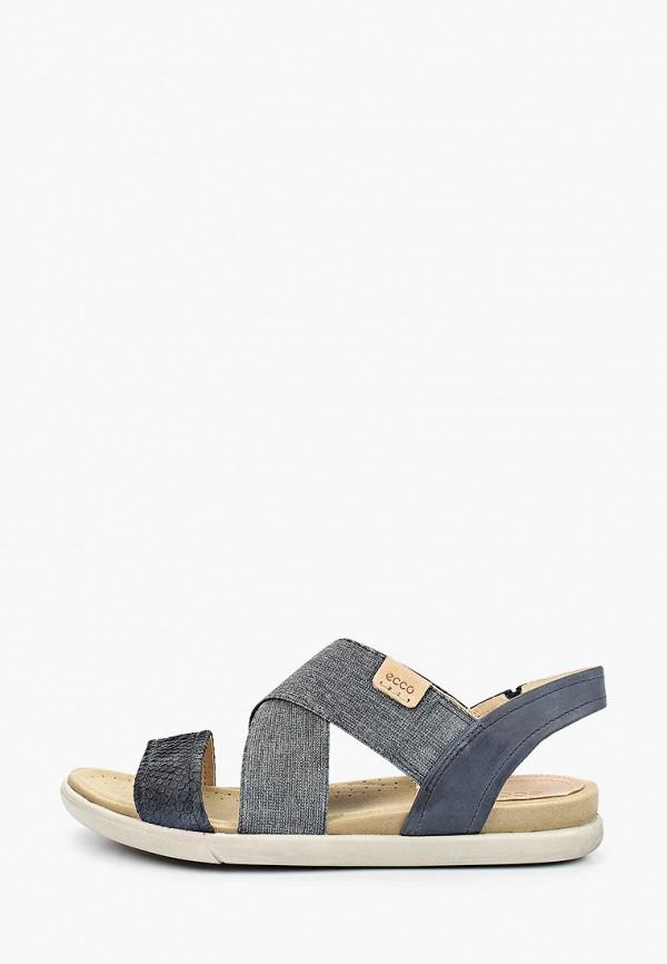 женские сандалии ecco, синие