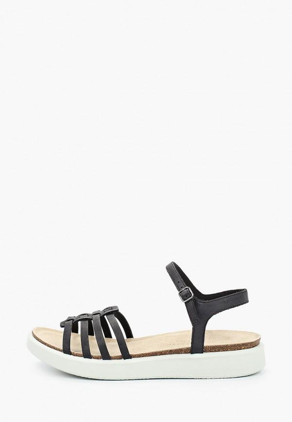 женские сандалии ecco, черные