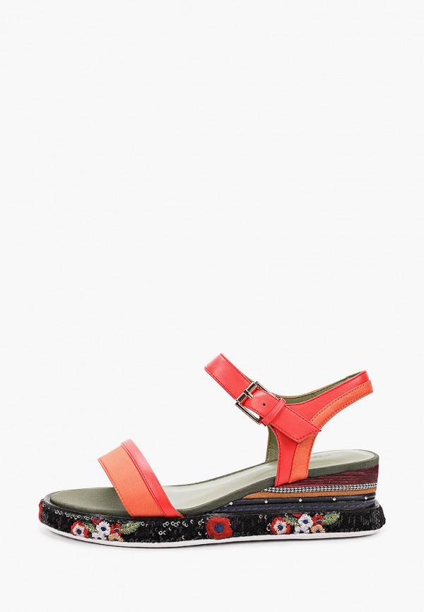 женские сандалии mascotte, красные
