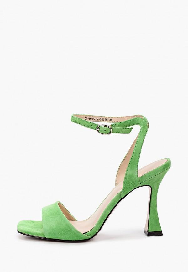 женские босоножки mascotte, зеленые