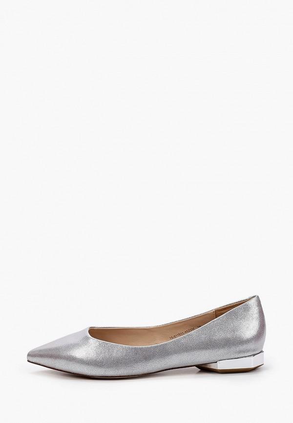 женские туфли с закрытым носом mascotte, серебряные