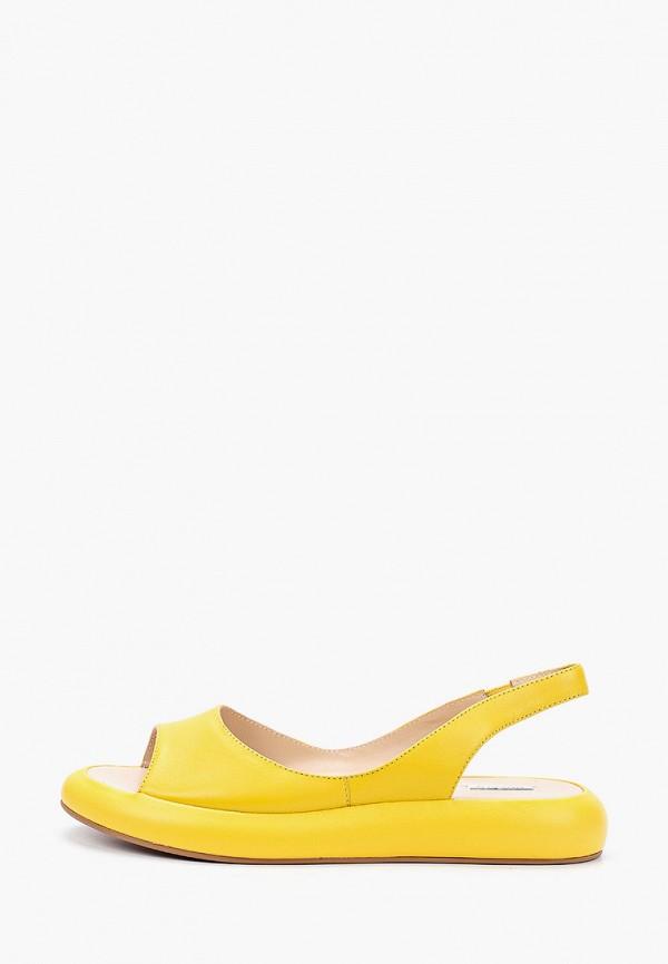 женские сандалии mascotte, желтые