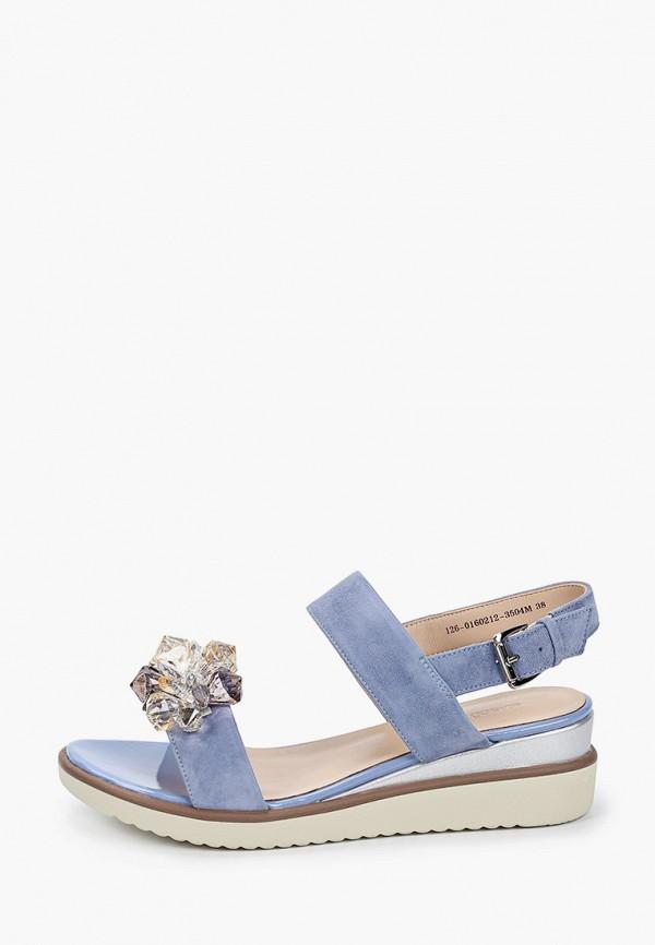 женские сандалии mascotte, голубые