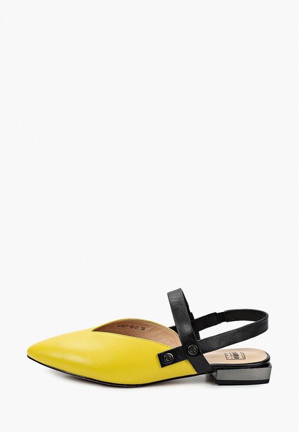 женские туфли palazzo d'oro, желтые